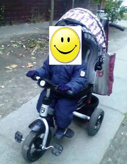 Детский трехколесный велосипед с родительской ручкой  Mars Mini Trike.