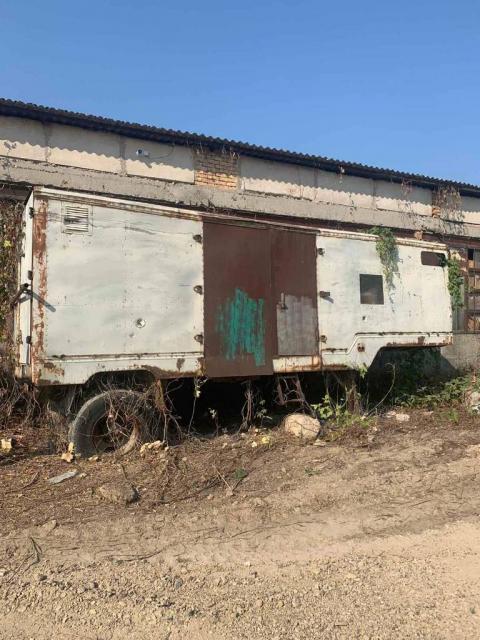 Продам строительный вагончик б/у на колесах